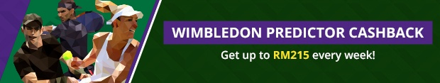 Wimbledon Predictor Cashback