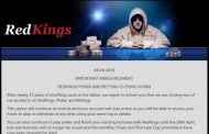 RedKings Online Poker, Betting Products Bite The Dust...