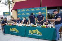 Firefighter Burger Eating Contest