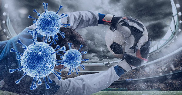 Illustration Coronavirus Effects on Football Matches